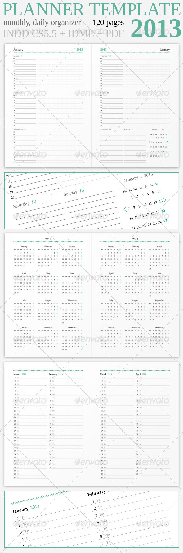 GraphicRiver Planner 2013 3303145