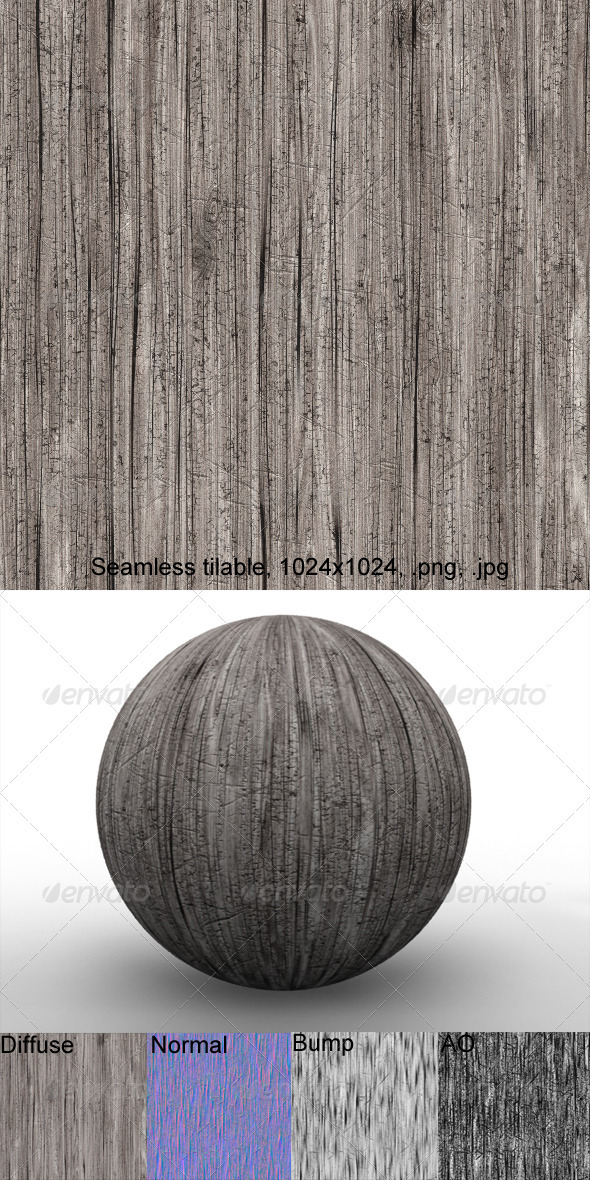 3DOcean Rough Wood 1 2874305
