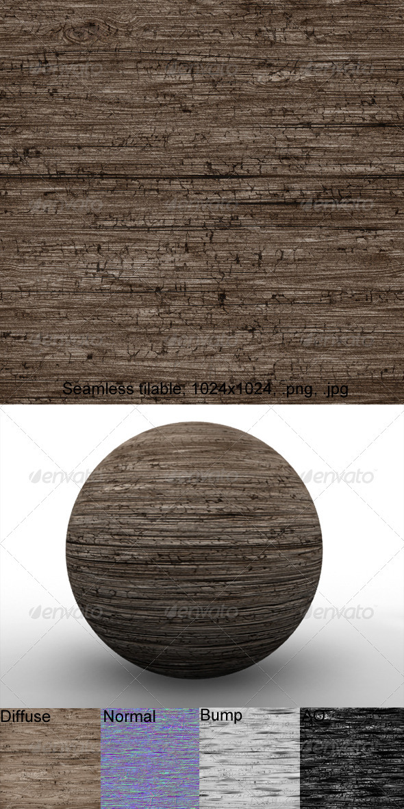 3DOcean Rough Wood 3 2874330
