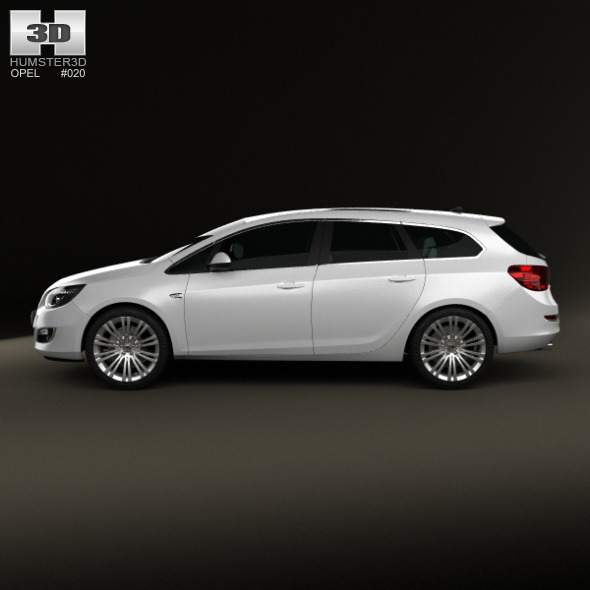 opel astra j sports tourer 2012 by humster3d 3docean. Black Bedroom Furniture Sets. Home Design Ideas