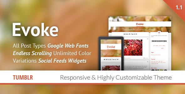 ThemeForest Evoke Responsive Tumblr Theme 3279303