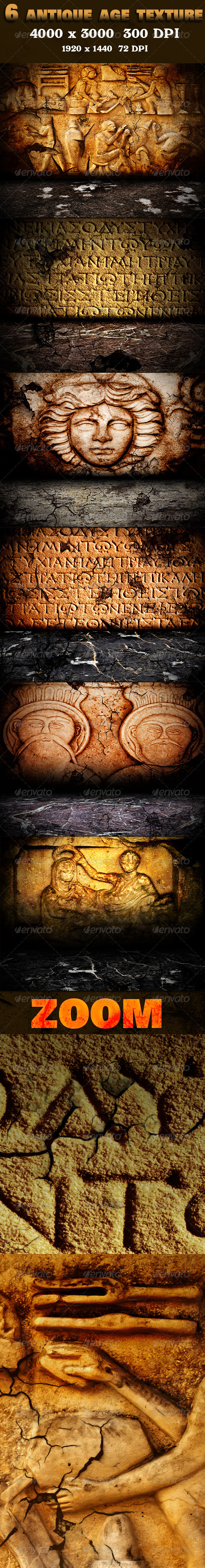 GraphicRiver 6 Antique Age Texture Pack 3317735