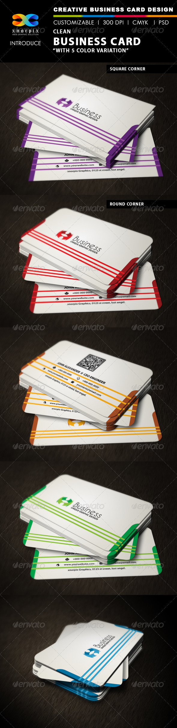GraphicRiver Clean Business Card 3317738