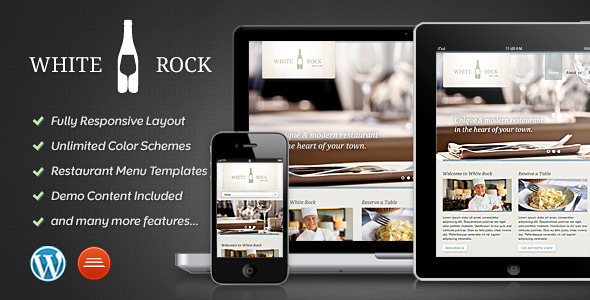 ThemeForest White Rock Restaurant & Winery Theme 3317744