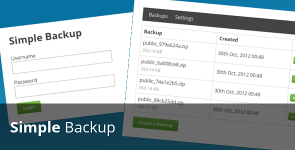 CodeCanyon Simple Backup 104945