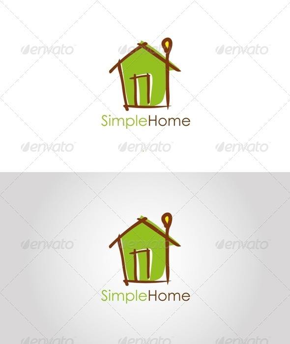 GraphicRiver Simple Home Logo 3232399