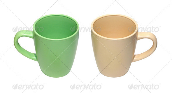 Pastel cups - Stock Photo - Images