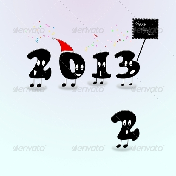 Happy New Year 2013. - Stock Photo - Images