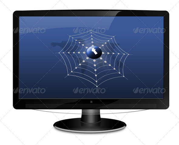 Facebook Social Network Screen - Stock Photo - Images