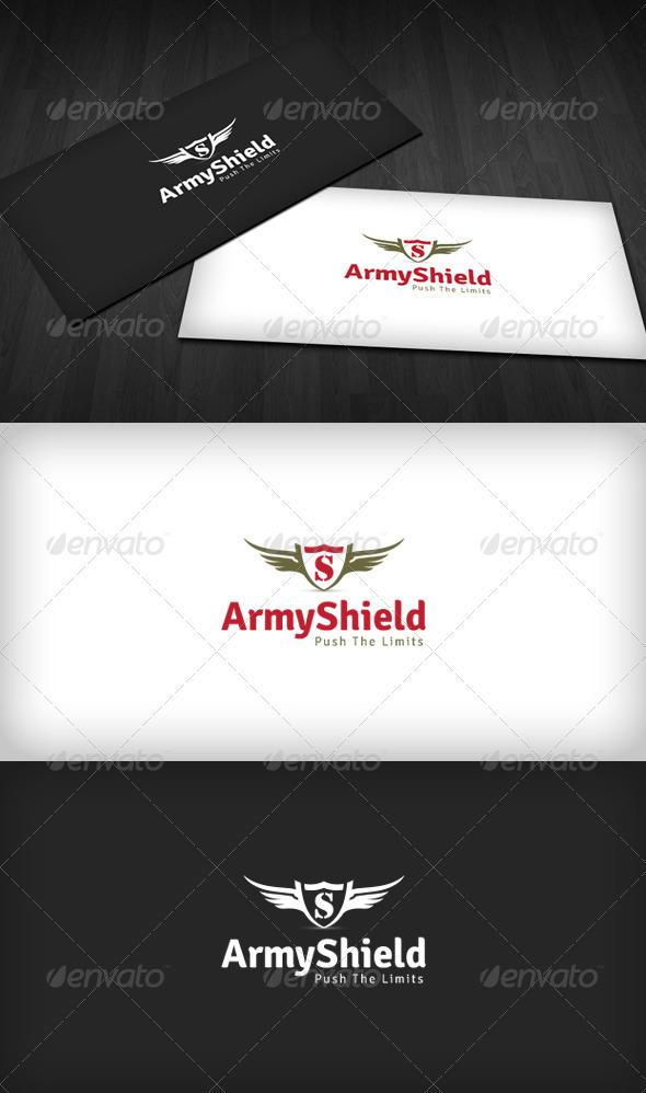 GraphicRiver Army Shield Logo 3318412