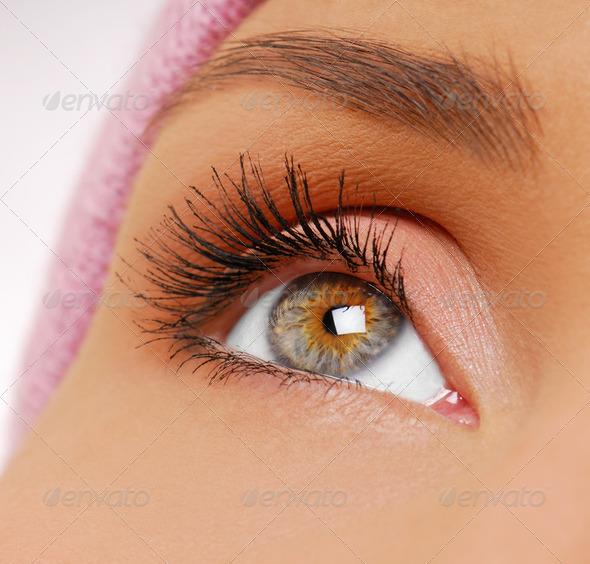 PhotoDune Long black beauty eyelashes 2194999