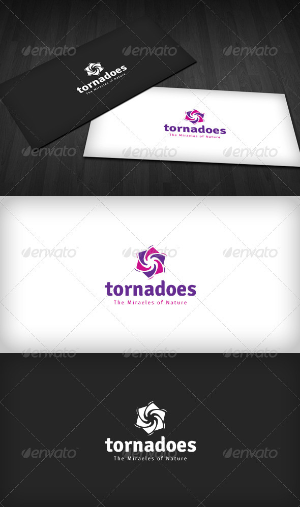 GraphicRiver Tornadoes Logo 3318572