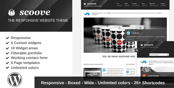 Scoove responsive corporate wordpress theme