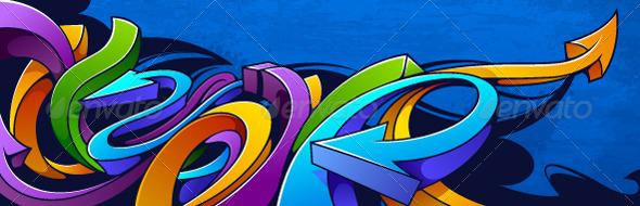 GraphicRiver Graffiti background 3318786