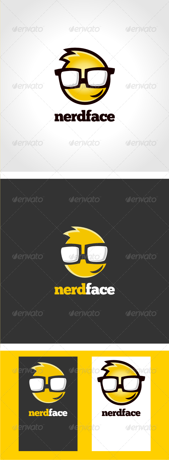GraphicRiver NerdFace Logo Template 3318876