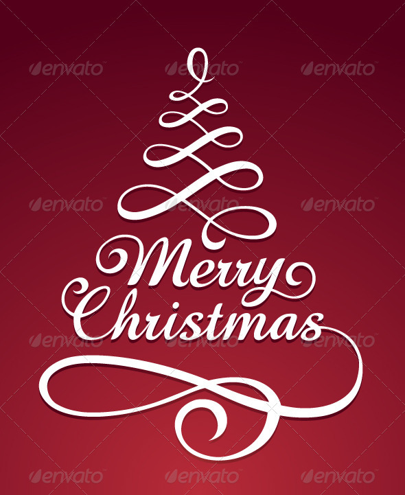 GraphicRiver Merry christmas typography 3319403