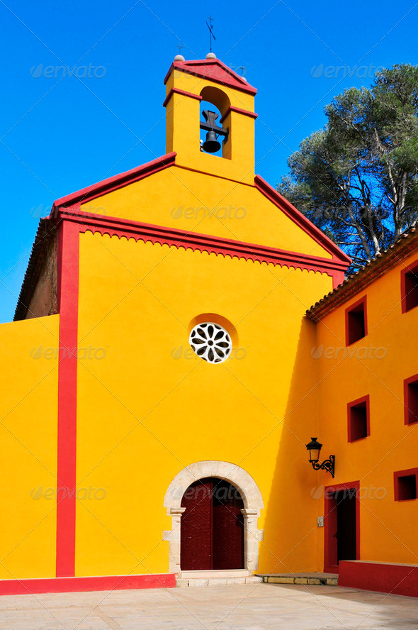 Shrine of Santa Marina, Pratdip, Spain - Stock Photo - Images
