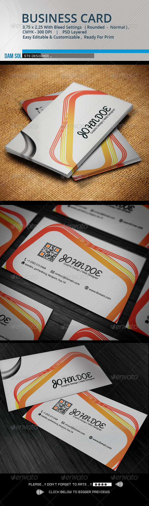 GraphicRiver Creative Business Card 3296202