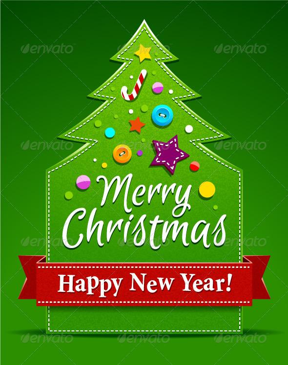 GraphicRiver Christmas tree applique 3319614