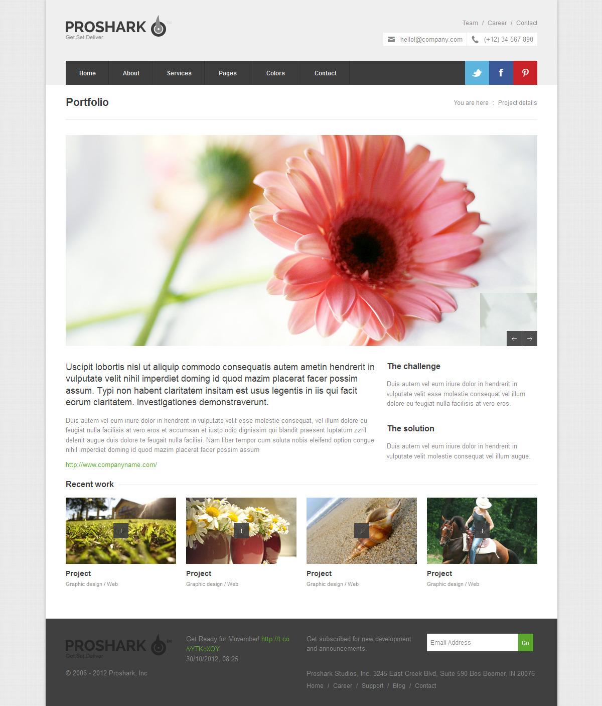 Proshark Responsive Corporate HTML Template