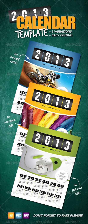 GraphicRiver Calendar Template 2013 3319738