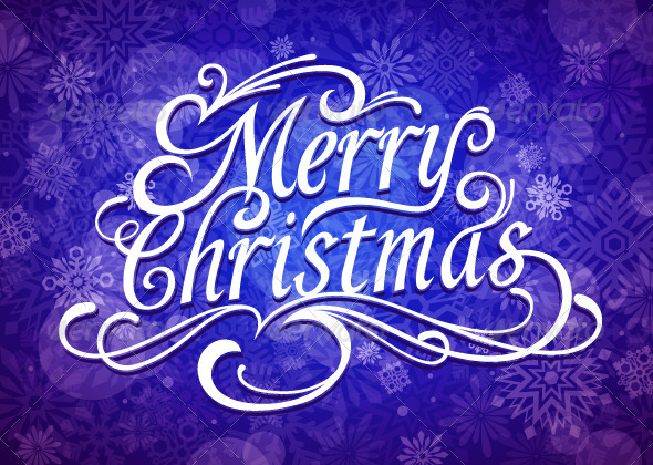 Merry Christmas Vector Calligraphic Lettering