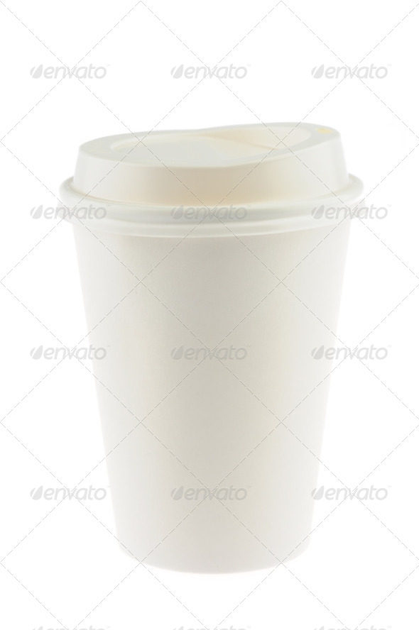 Disposable coffee cup - Stock Photo - Images