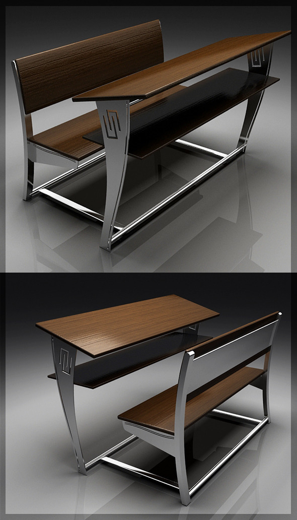 Classic 3D Chair & Table 8080 113