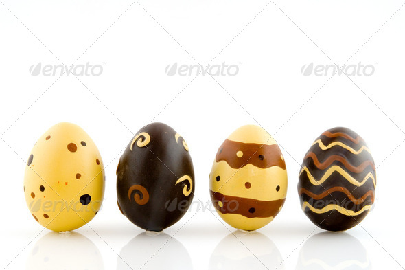 chocolate eggs - Stock Photo - Images