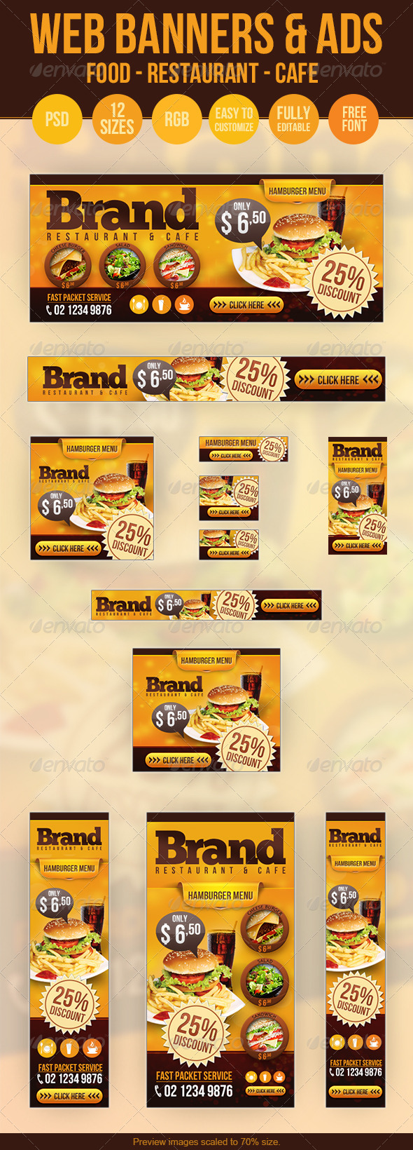 GraphicRiver Food Web Banners & Advertise PSD Templates 3320857