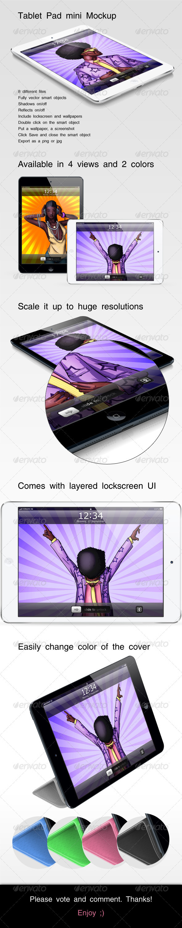 GraphicRiver Tablet Pad Mini Mockup 3289210