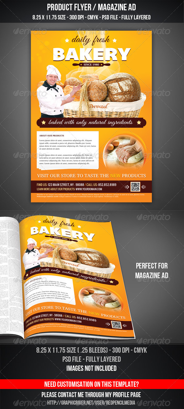 GraphicRiver Bakery Flyer Magazine AD 3321044