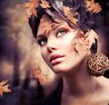 Autumn Woman Fashion Portrait. Fall - PhotoDune Item for Sale