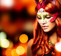 Masquerade. Beautiful Girl in a Carnival mask - PhotoDune Item for Sale