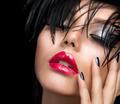 Fashion Art Girl Portrait. Vivid Makeup - PhotoDune Item for Sale