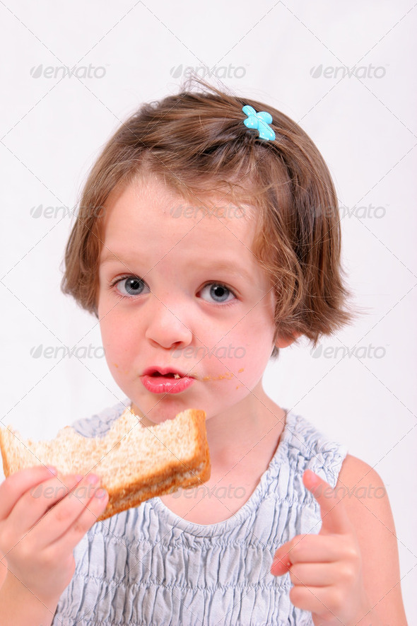 Girl eating2 - Stock Photo - Images