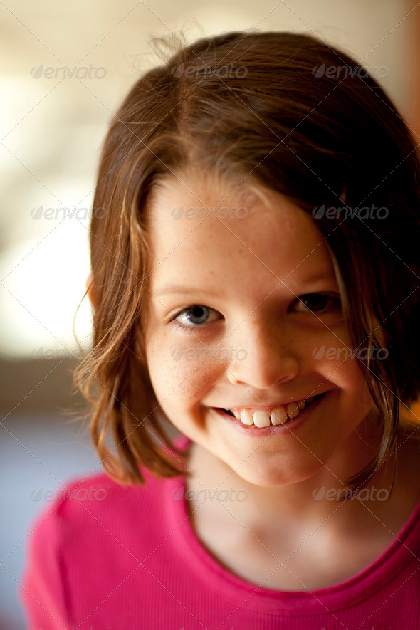 beautiful little girl - Stock Photo - Images