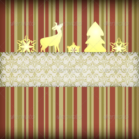 GraphicRiver Vector Christmas Composition 3321341