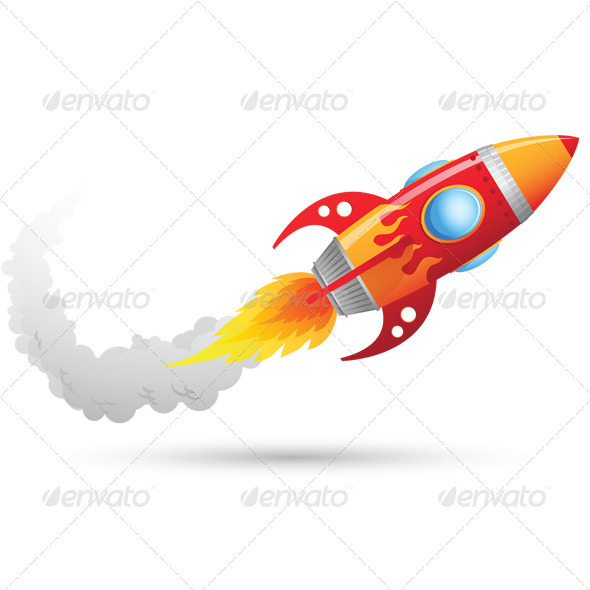 GraphicRiver Rocket Flying 3321435