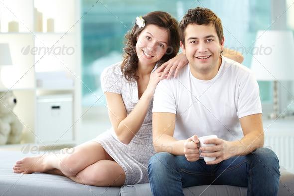 Sweet couple - Stock Photo - Images