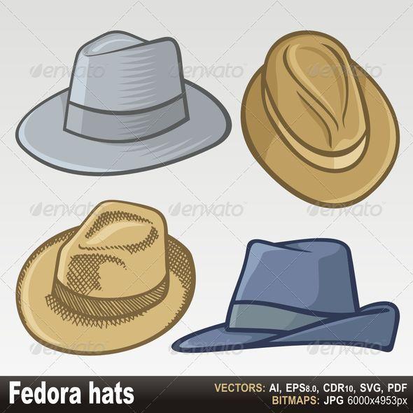 GraphicRiver Fedora hats 3321949