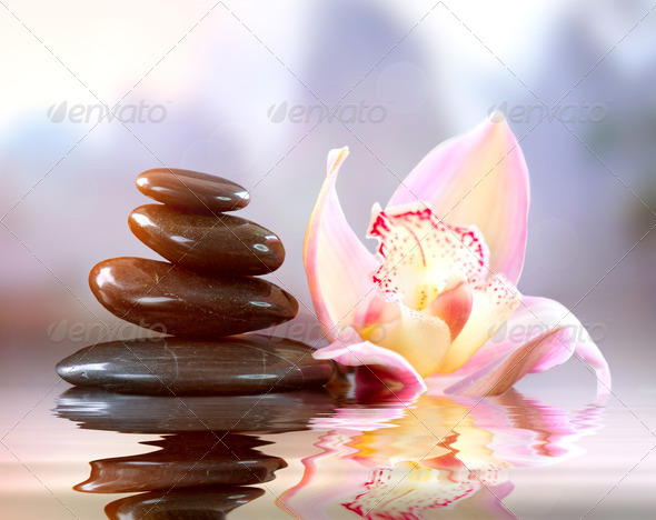 Spa Zen Stones. Harmony Concept - Stock Photo - Images