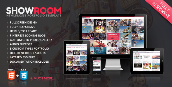 Showroom Portfolio Responsive HTML5 Theme