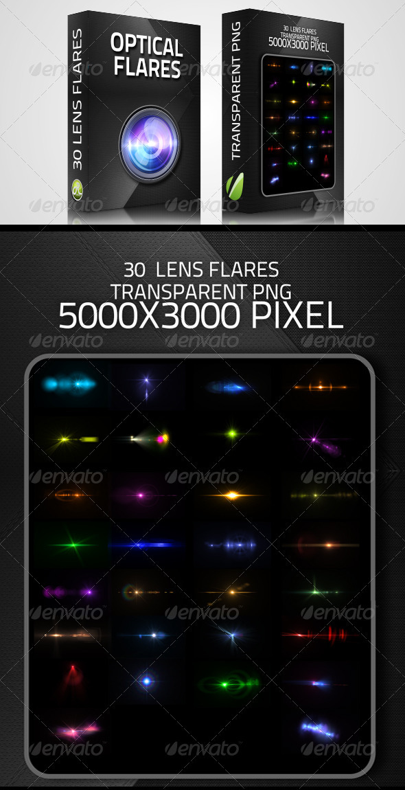 GraphicRiver Optical Flares 30 Lens flares 3322674