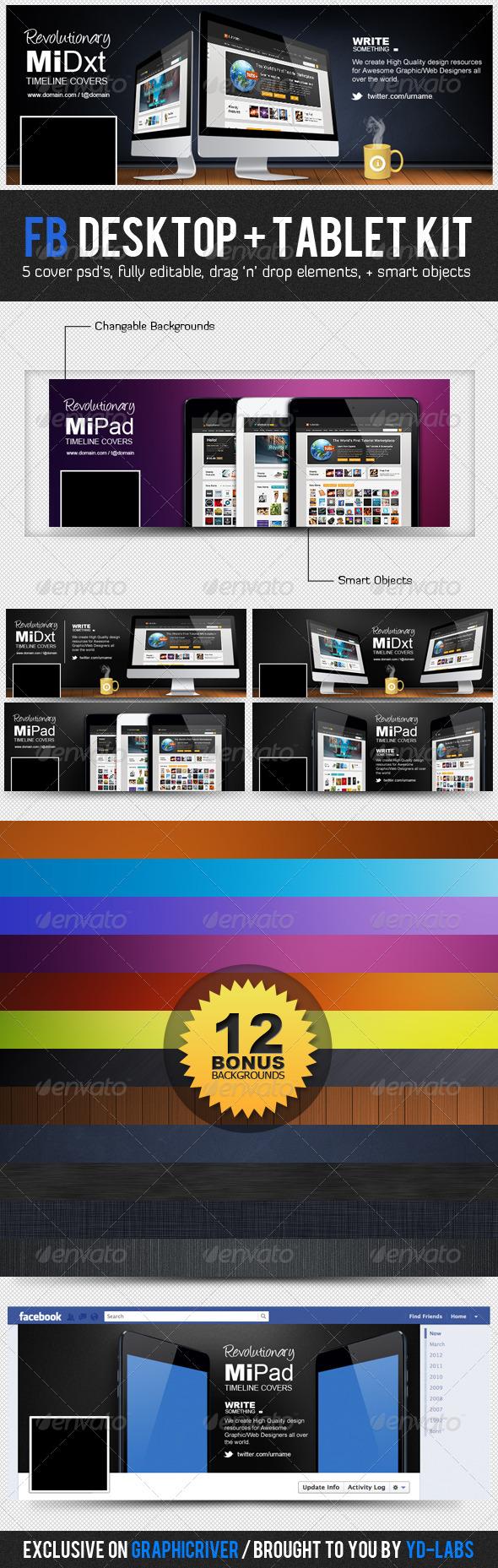 GraphicRiver FB Desktop Tablet Kit 3322731