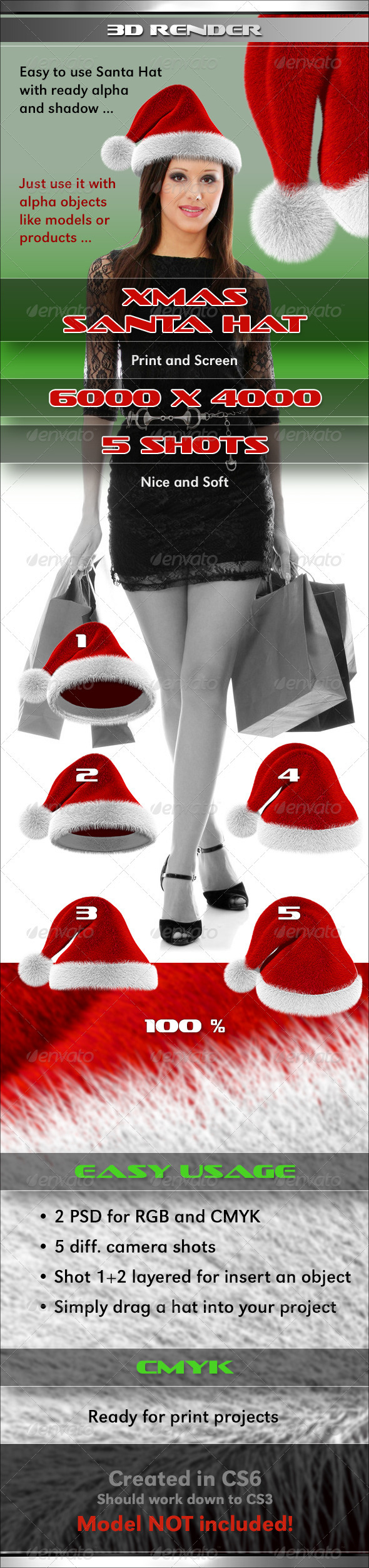 GraphicRiver Xmas Santa Hat 3322741