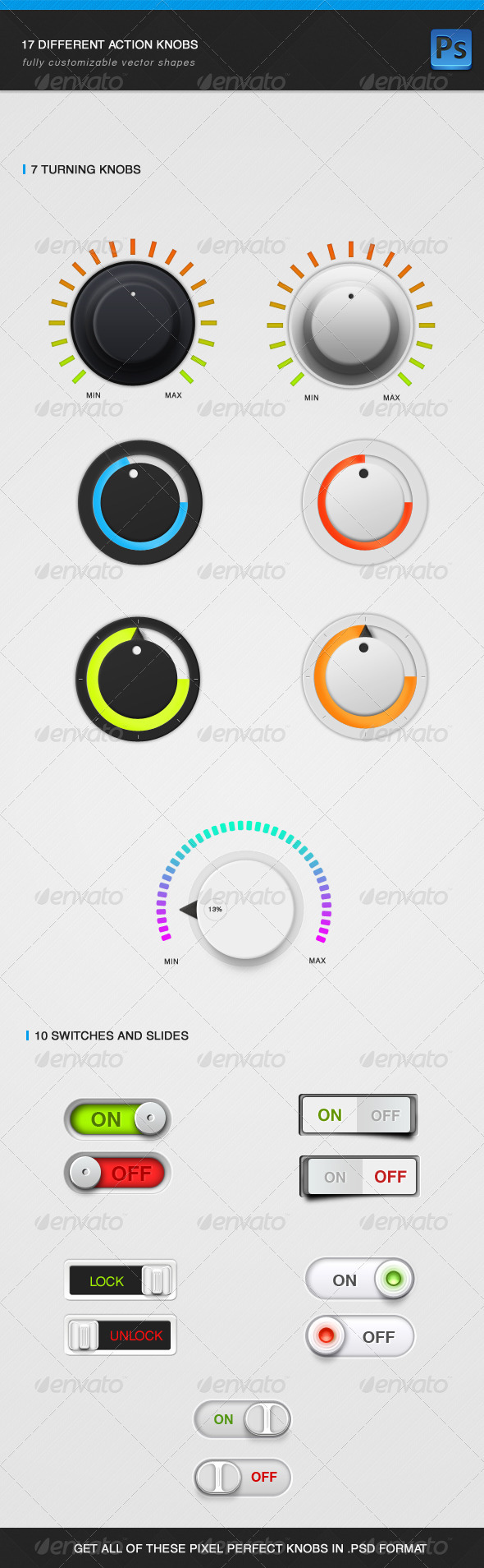GraphicRiver Knobs and Switches 3306654