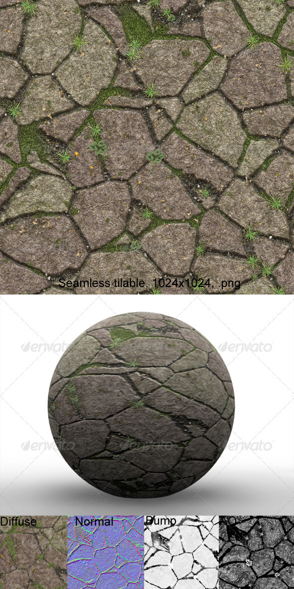 Flagstones 2 - 3DOcean Item for Sale