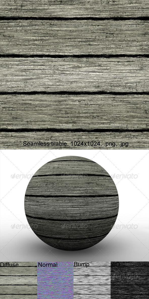 Rough Planks 2 - 3DOcean Item for Sale