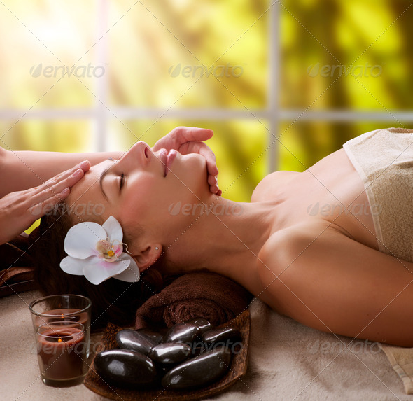 Spa Facial Massage - Stock Photo - Images